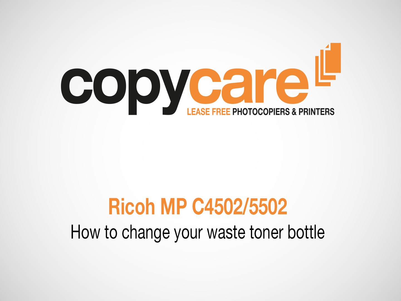 Ricoh MP C4502/5502 Tutorials | Copycare